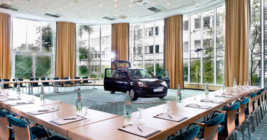 Conference room for product presentations in Wyndham Hannover Atrium hotel | © Wyndham Hannover Atrium